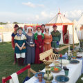 Count Arturus and Baroness Ellice at a 14th Century Dinner at Pennsic.jpeg