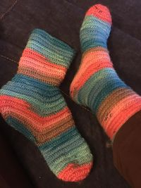1st Pair of socks finished.jpg